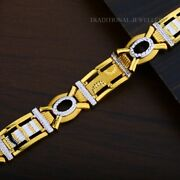 22k Yellow Gold Menand039s Bracelet Beautifully Handcrafted Diamond Cut Design 190