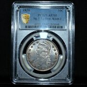 1820 Capped Bust Half ✪ Pcgs Au-55 ✪ 50c Square Base 2 Large Date Knob ◢trusted◣