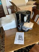 New Nos Melitta Automatic Mill And Brew 10 Cup Coffee Maker Memb1 Black