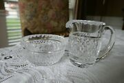 Waterford Crystal 6 Oz Creamer And Open Sugar Bowl Giftware Collection