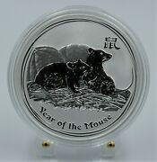 2008 Australia -the Year Of The Mouse 1 Oz Silver Coin