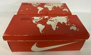 Vintage 80s Nike Shoe Box Lot Of 2 With World Map Lid Racquette And Bruin Box Only