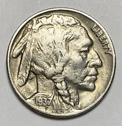 1937 D Indian Head Buffalo Nickel 5andcent 3 Legged Variety High Grade Coin 3547