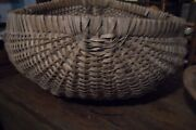 Early Large Antique Gathering Basket 18 X 18 X 10 Tall