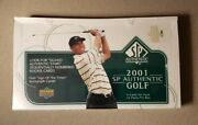 2001 Upper Deck Sp Authentic Golf Factory Sealed Hobby Box 24 Packs Tiger Woods