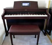 Roland Hpi-7s Digital Interactive Piano W/big Bench For Duet Playing 88 Keys