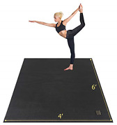 Gxmmat Large Yoga Mat 72x 486and039x4and039 X 7mm For Pilates Stretching Home Gym Extra