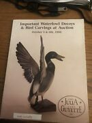 Duck Decoy Auction Catalog Julia And Guyette 10/5-6/1990 Waterfowl Bird Carvings