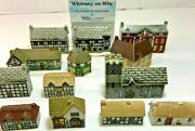 Wade England Whimsies Whimsey-on-why Lot Of 13 Porcelain Buildings