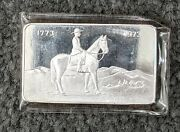 1973 Royal Canadian Mounted Police Silver 999 1oz Bar In Sleeve
