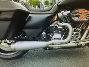 Harley Touring 2 Into 1 Exhaust Burns Stainless Steel M8 Or Twin Cam