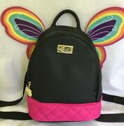 Betsey Johnson Mini Rainbow Butterfly Wings Backback New With Tags Authentic