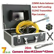 20m/30m/40m/50m Cable 7 Monitor Sewer Pipe Inspection Video Camera With Battery