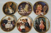 """Norman Rockwell's """"rediscovered Women"""" 6 Decorative Plates Series Classic"""