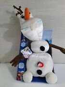 Disney Frozen Pull Apart And Talking Olaf Plush New In Box