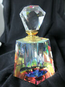 Vintage Murano Colored Art Glass Perfume Bottle With Stopper