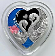 China 2021 Implies Happy And Lasting Marriage 百年好合 Heart Silver Medal 30g Coa