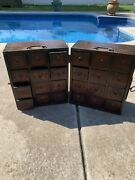 Antique Vintage 24 Drawer Medicine Chest Herb Cabinet Apothecary