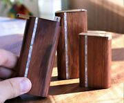 4 Honduras Wood Dugout With One Hitter- Slider Lid Pearl Inlay- Perfect Gift