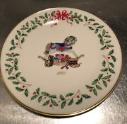 """Lenox 1992 Annual Holiday Collector Plate Rocking-horse 2nd In Series 10 7/8""""box"""