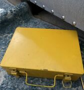 Bell Telephone System First Aid Kit C Yellow Metal Box Vintage Heavyweight 9x6