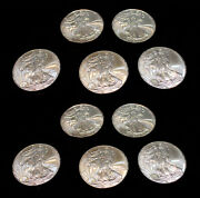 Silver American Eagle Coins Brilliant Uncirculated 17 Coins