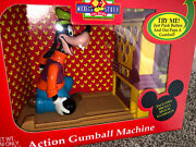 Vintage Disney Goofy Gumball Machine By Carousel Toys Swing Action Bowling B6