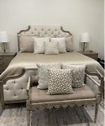 Gently Used Bernhardt Upholstered King Bed Marquesa - Excellent Condition