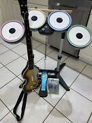 The Beatles Rock Band Wireless Drum Set And Guitar For Microsoft Xbox 360