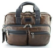 Tumi Alpha Bravo 'andersen' Brown Leather Expandable Briefcase - 92640db2