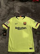 2018/19 Fc Barcelona Away Jersey Size Youth Large