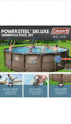 Coleman Deluxepower Steel 18' X 48 Round Above Ground Swimming Pool Set And Pump