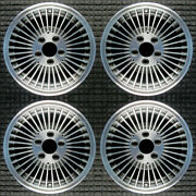 Ford Crown Victoria Machined W/ Charcoal Pockets 15 Oem Wheel Set 1980 To 199