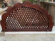 19th C Antique Old Wooden Hand Crafted Collectible Wall Arch Room Entrance Door