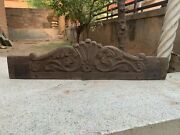 Old Vintage Wooden Hand Carved Collectible Flower Pattern Design Door Wall Panel
