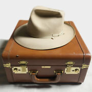 Phantom Class 50and039s Stetson 59.5cm Open Road 100 One Hundred With Leather Case