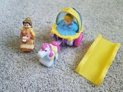 Fisher Price Little People Cinderella Carriage And Belle Klip Klop Horse
