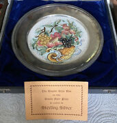 Vintage Veneto Flair Plate, 1972, Rim Crafted In .925 Sterling Silver, 'd 823