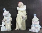 3 Lladro Clowns - 5203/5277/5279 - No Box - Retired - Excellent Condition