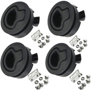 Angrylife 4pcs Marine Slam Latch 2and039and039 Flush Pull Slam Latch Plastic Round For Rv