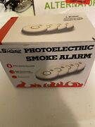 Lshome Smoke Detector,4 Pk Fire Alarm W/ Photoelectric Sensor And Battery Operated