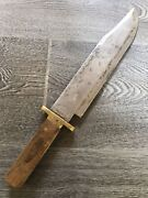 1800s Pre Civil War Broomhead And Thomas Sheffield Bowie Knife 10 1/2andrdquo Blade