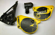 1978 1979 Yamaha Yz80 Right Left Side Cover Number Plate W/ Intake Boot And Airbox