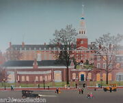 Michel Delacroix Lowell House Original Lithograph Signed And Numbered