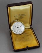 Antique Omega Art Deco Solid 18k Yellow Gold 47mm Pocket Watch. W/box