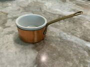 Ruffoni Italy Copper Sauce Butter Pan Pot With Porcelain Insert 3 Inch