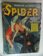 Spider Pulp Mag March 1940 Slaves Of Laughing Death Norvell W Page Wayne Rogers