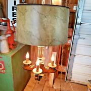 Vintage Stiffel Swag Ceiling Lamp Hang Light Farmhouse Candle Wood Chandelier