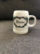 Limoges France Handegraveroandiumlne Apothecary Stein-tankard Drinking Mug Extremely Rare