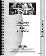 Rumely Tractor 20-35-m 15-25-l Oil Pull Service Repair Manual